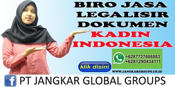BIRO JASA LEGALISIR DOKUMEN KADIN INDONESIA