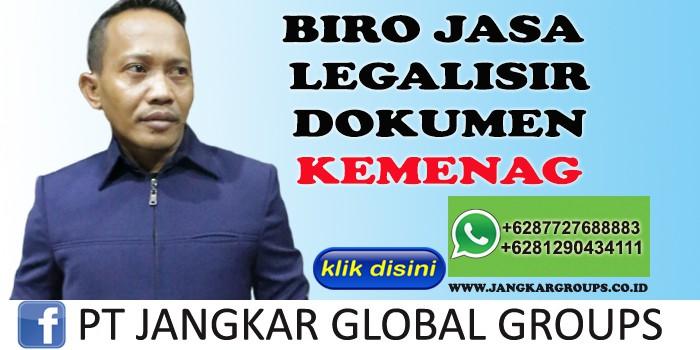 BIRO JASA LEGALISIR DOKUMEN KEMENAG