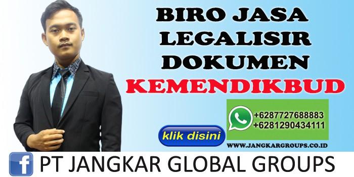 BIRO JASA LEGALISIR DOKUMEN KEMENDIKBUD