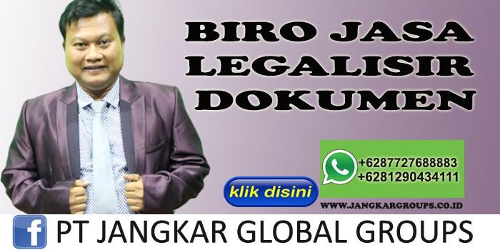 BIRO JASA LEGALISIR DOKUMEN SYAMSUDIN SH