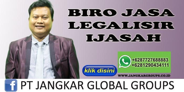 BIRO JASA LEGALISIR IJASAH