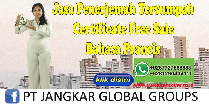 Jasa Penerjemah Tersumpah Certificate Free Sale Bahasa Prancis