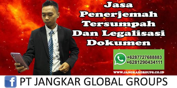 Jasa Penerjemah Tersumpah Dan Legalisasi Dokumen