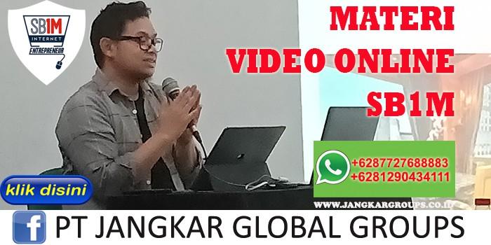 MATERI VIDEO ONLINE SB1M
