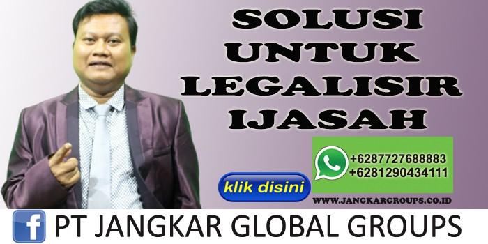 SOLUSI UNTUK LEGALISIR IJASAH SYAMSUDIN SH