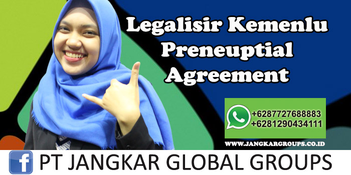 Legalisir Kemenlu Preneuptial Agreement