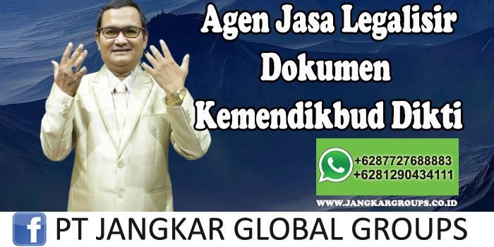 Agen Jasa Legalisir Dokumen Kemendikbud Dikti