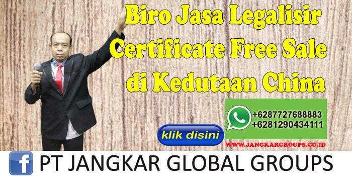 Biro Jasa Legalisir Certificate Free Sale di Kedutaan China