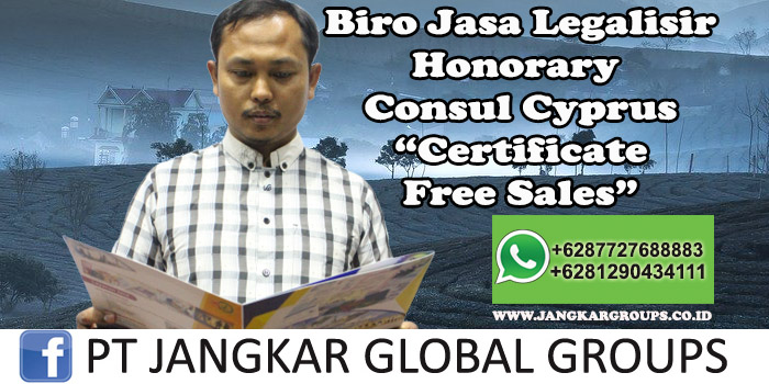 Biro Jasa Legalisir Honorary Consul Cyprus Certificate Free Sales