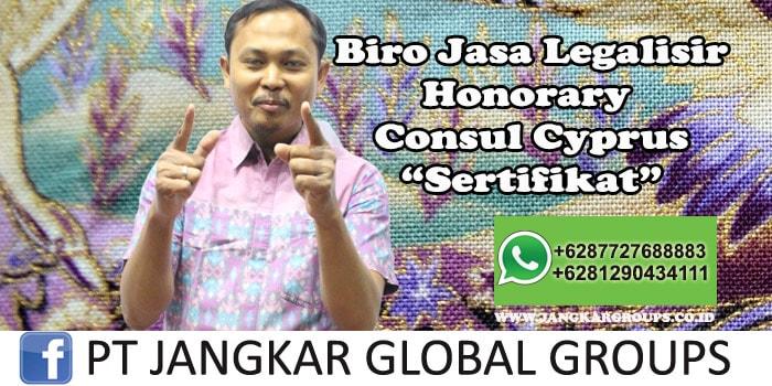 Biro Jasa Legalisir Honorary Consul Cyprus Sertifikat