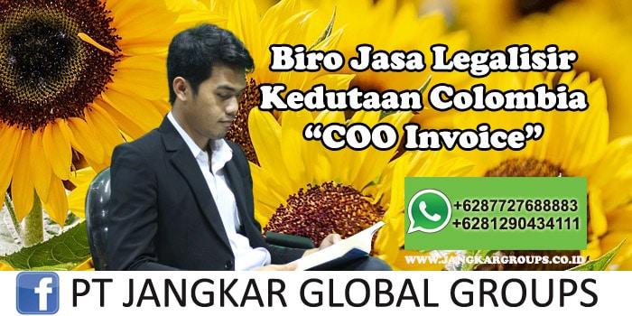 Biro Jasa Legalisir Kedutaan Colombia COO Invoice