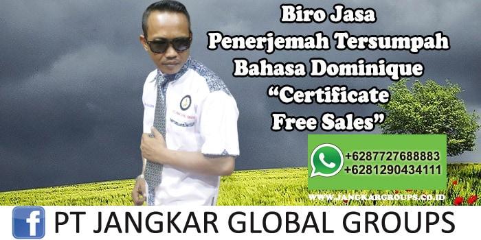 Biro Jasa Penerjemah Tersumpah Bahasa Dominique Certificate Free Sales