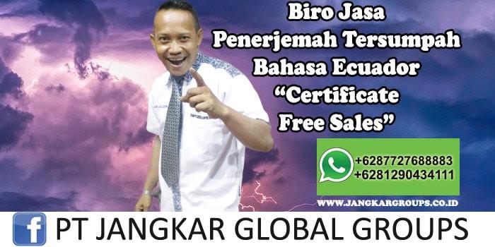 Biro Jasa Penerjemah Tersumpah Bahasa Ecuador Certificate Free Sales
