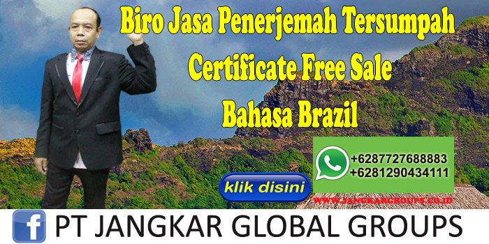 Biro Jasa Penerjemah Tersumpah Certificate Free Sale Bahasa Brazil