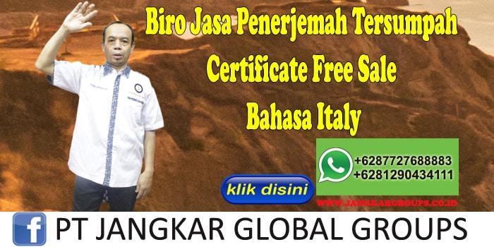 Biro Jasa Penerjemah Tersumpah Certificate Free Sale Bahasa Italy