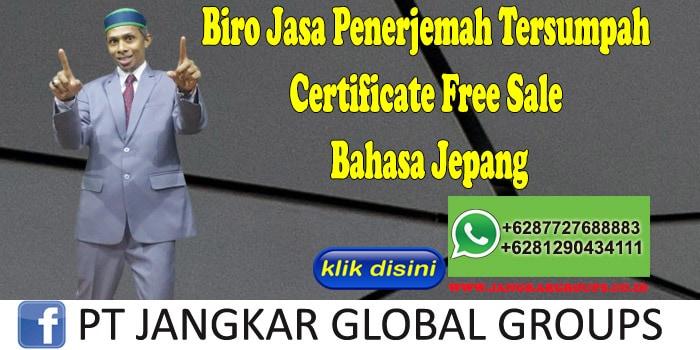Biro Jasa Penerjemah Tersumpah Certificate Free Sale Bahasa Jepang