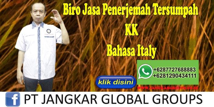Biro Jasa Penerjemah Tersumpah KK Bahasa Italy