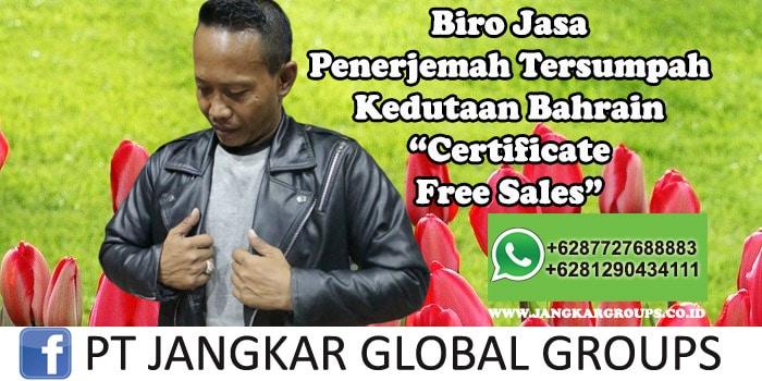 Biro Jasa Penerjemah Tersumpah Kedutaan Bahrain Certificate Free Sales