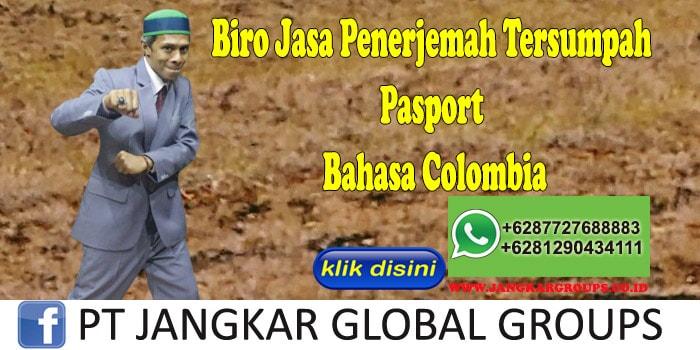 Biro Jasa Penerjemah Tersumpah Pasport Bahasa Colombia