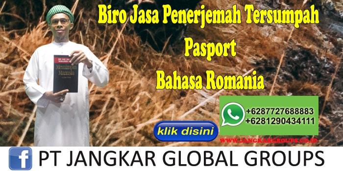 Biro Jasa Penerjemah Tersumpah Pasport Bahasa Romania