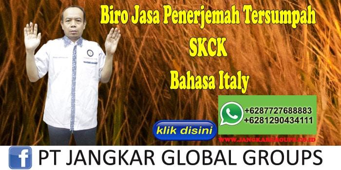 Biro Jasa Penerjemah Tersumpah SKCK Bahasa Italy