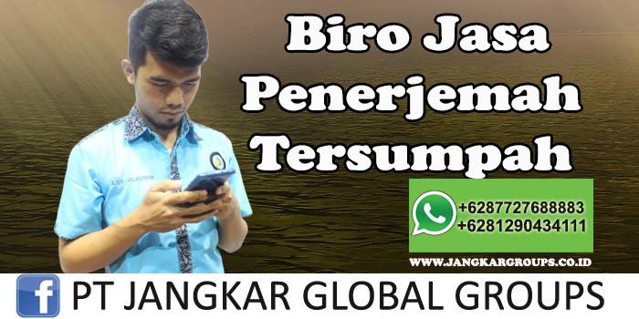 Biro Jasa Penerjemah Tersumpah