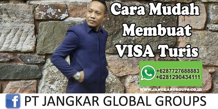 Cara mudah membuat visa turis