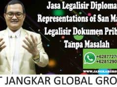 Jasa Legalisir Diplomatic Representations of San Marino