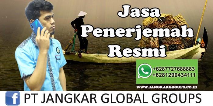 Jasa Penerjemah Resmi