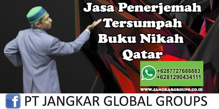 Jasa Penerjemah Tersumpah Buku Nikah Qatar