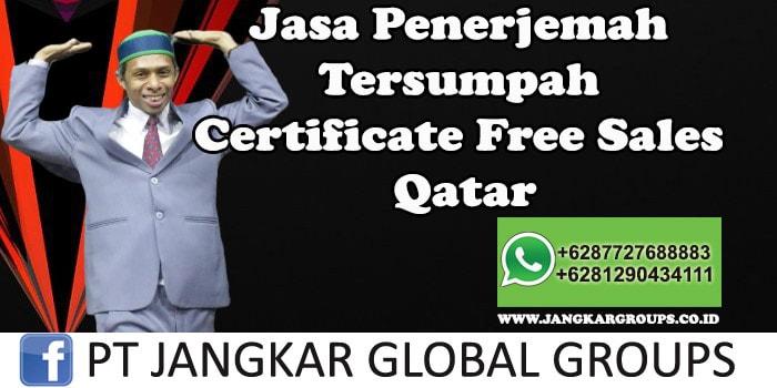 Jasa Penerjemah Tersumpah Certificate Free Sales Qatar