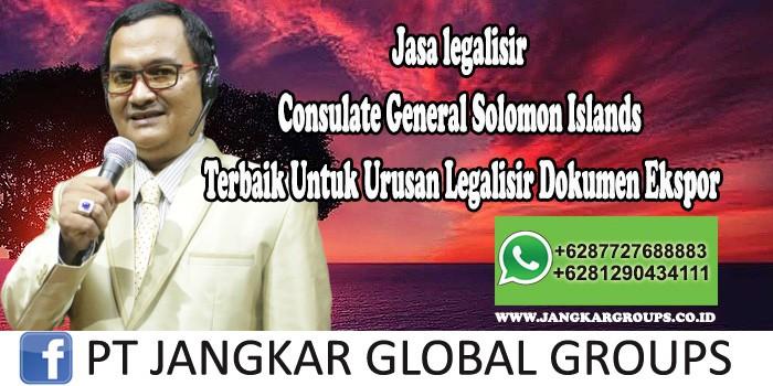 Jasa legalisir Consulate General Solomon Islands