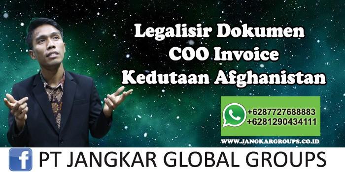 Kedutaan Afghanistan Urus COO Invoice