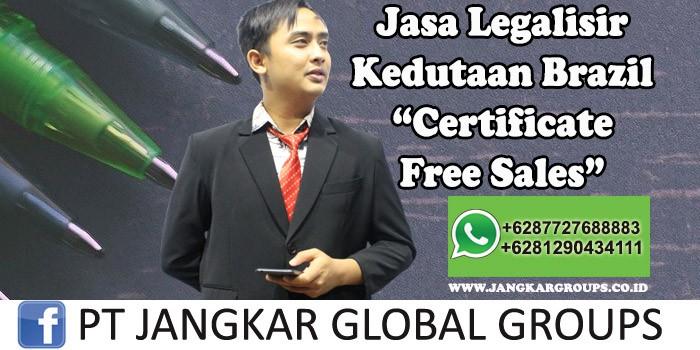Legalisir Kedutaan Brazil Certificate Free Sales