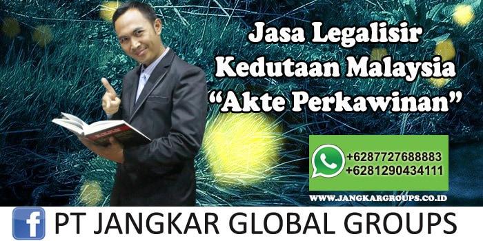 Legalisir Kedutaan Malaysia Akte Perkawinan