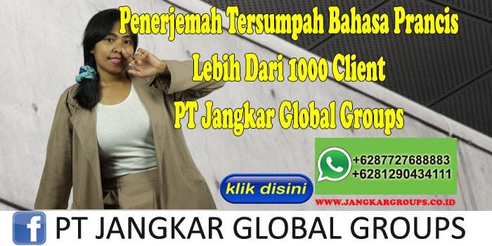 Penerjemah Tersumpah Bahasa Prancis Lebih Dari 1000 Client PT Jangkar Global Groups