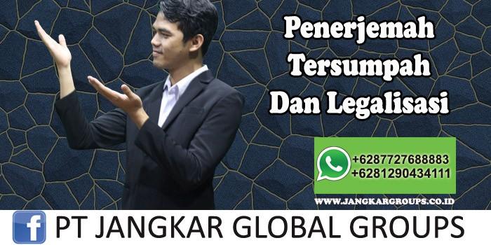 Penerjemah Tersumpah Dan Legalisasi