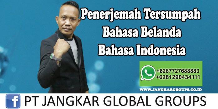 Penerjemah bahasa belanda bahasa indonesia