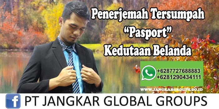 Penerjemah tersumpah Pasport Kedutaan Belanda