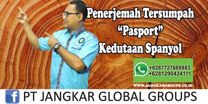 Penerjemah tersumpah Pasport Kedutaan Spanyol