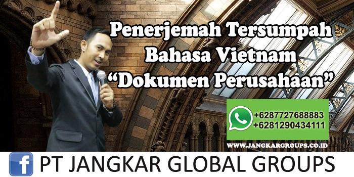 Penerjemah tersumpah bahasa Vietnam Dokumen Perusahaan
