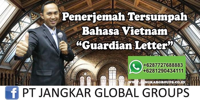 Penerjemah tersumpah bahasa Vietnam guardian Letter