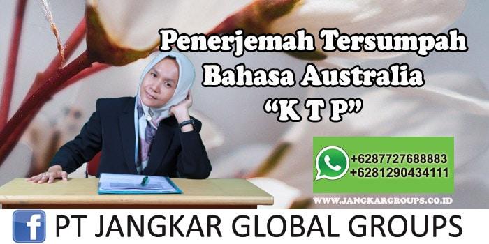 Penerjemah tersumpah bahasa australia KTP