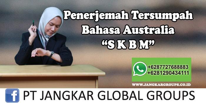 Penerjemah tersumpah bahasa australia SKBM