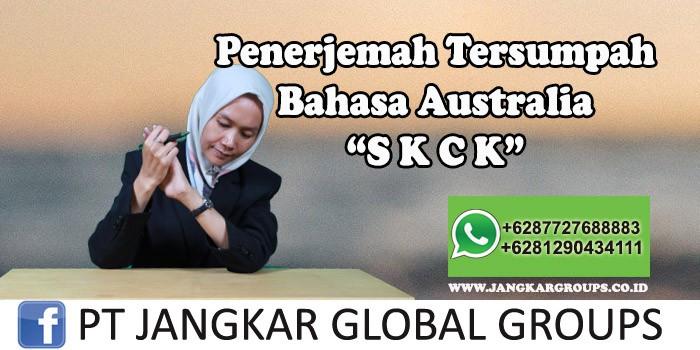 Penerjemah tersumpah bahasa australia SKCK