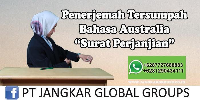 Penerjemah tersumpah bahasa australia Surat Perjanjian