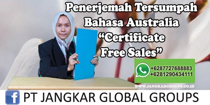 Penerjemah tersumpah bahasa australia certificate free sales