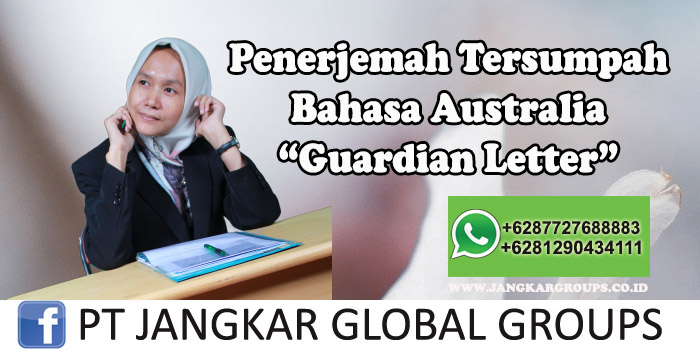 Penerjemah tersumpah bahasa australia guardian Letter