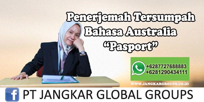 Penerjemah tersumpah bahasa australia pasport