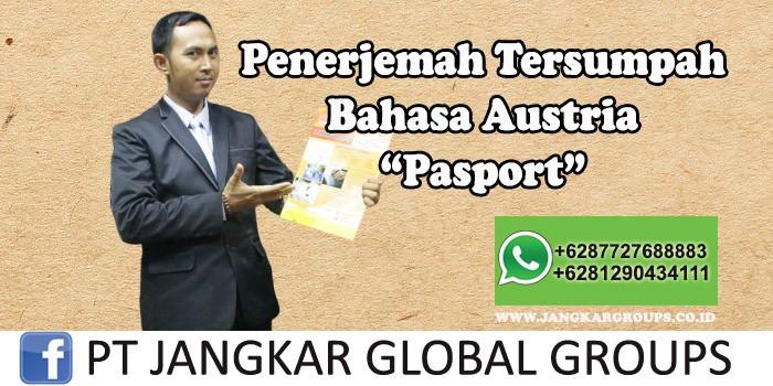 Penerjemah tersumpah bahasa austria pasport
